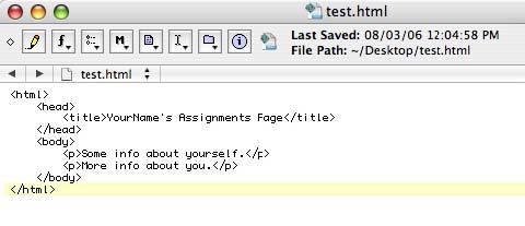 assignment html tags